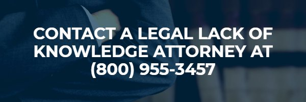 legal lack of knowledge attorney